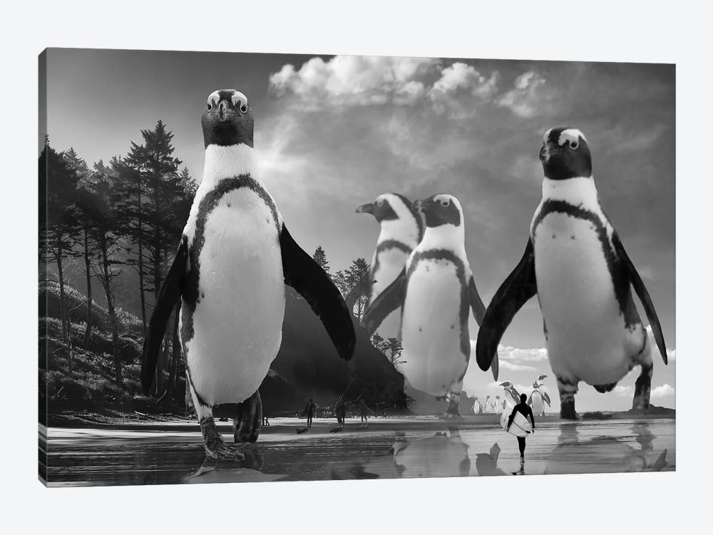 Walk Of The Penguins by David Loblaw 1-piece Art Print