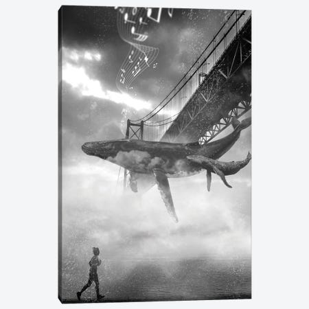 Whale Music Under The Golden Gate Bridge Canvas Print #DLB94} by David Loblaw Canvas Print