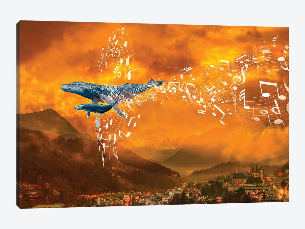 Whale Music In The Mountains by David Loblaw 1-piece Canvas Art Print