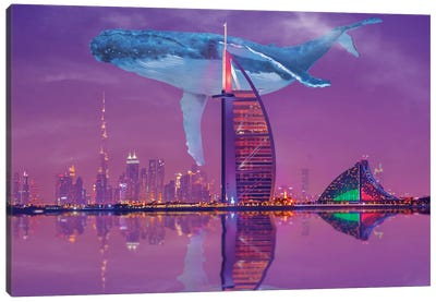 Whale Over Dubai Canvas Art Print