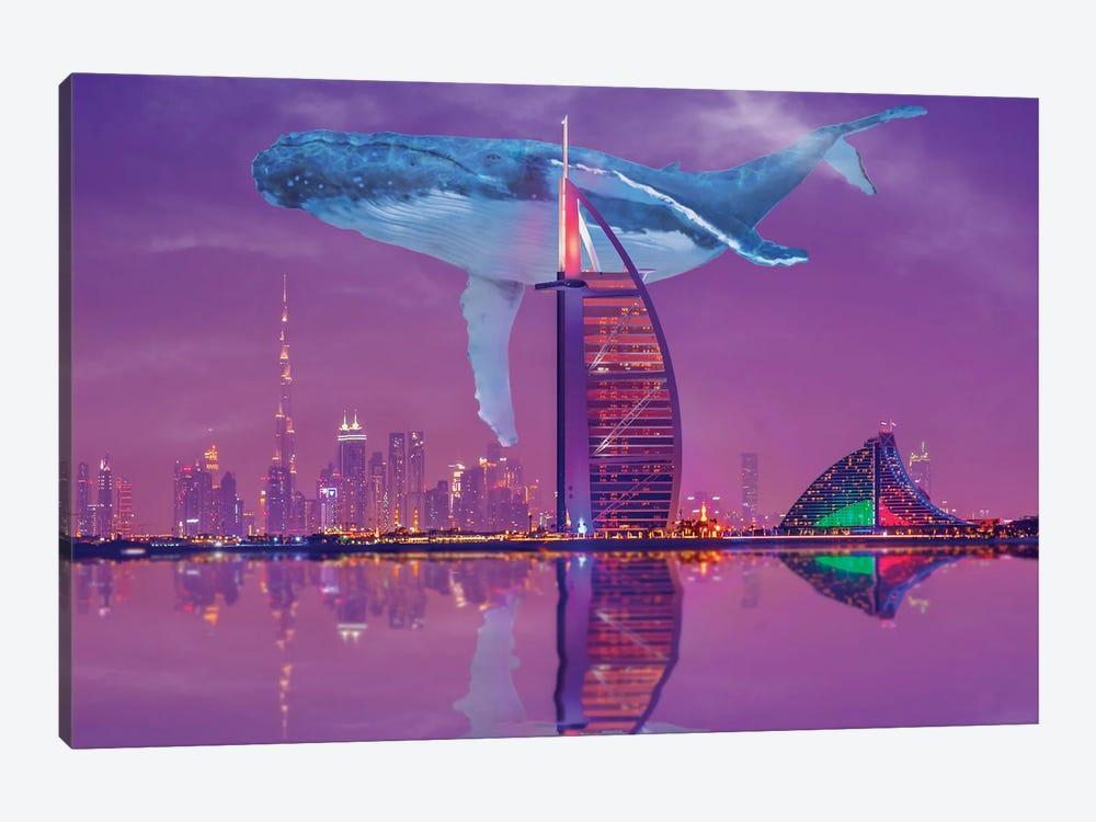 Whale Over Dubai by David Loblaw 1-piece Canvas Artwork