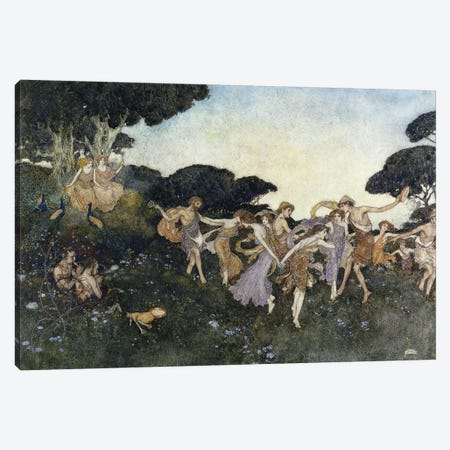 Scene From The Tempest, Canvas Print #DLC15} by Edmund Dulac Canvas Artwork