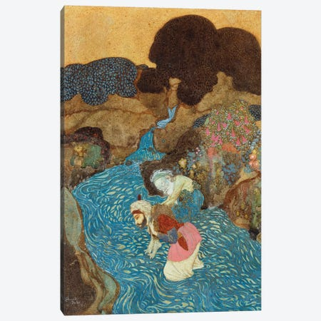 Sinbad The Sailor And The Old Man Of The Sea, 1913 Canvas Print #DLC16} by Edmund Dulac Canvas Wall Art