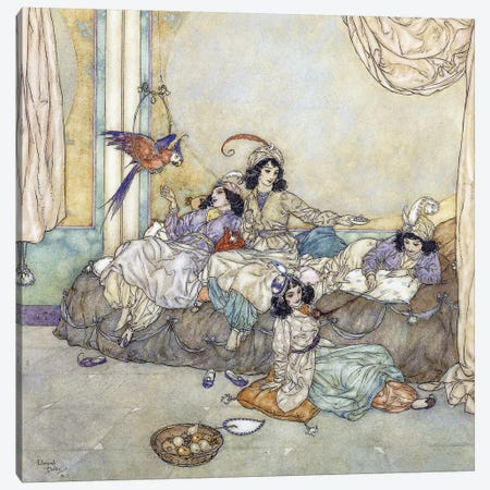 They Overran The House Without Loss Of Time, 1910 Canvas Print #DLC25} by Edmund Dulac Art Print