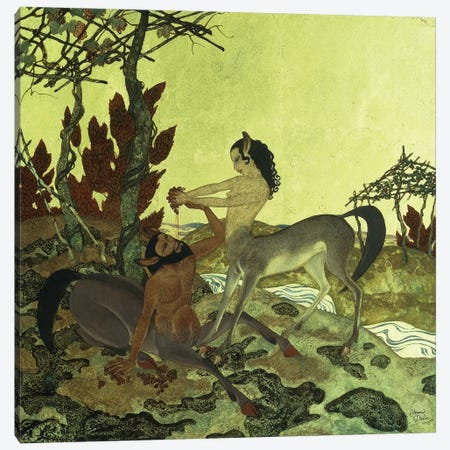 Autumn, 1921 Canvas Print #DLC2} by Edmund Dulac Canvas Print