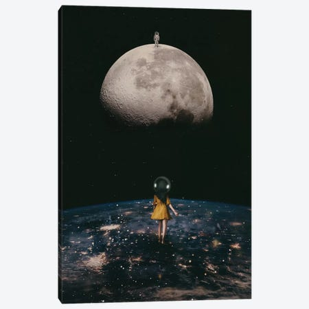 My Friend the Astronaut Canvas Print #DLE16} by Deandra Lee Canvas Art