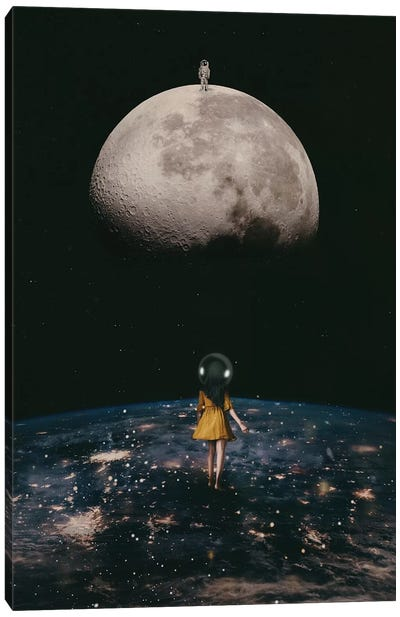 My Friend the Astronaut Canvas Art Print