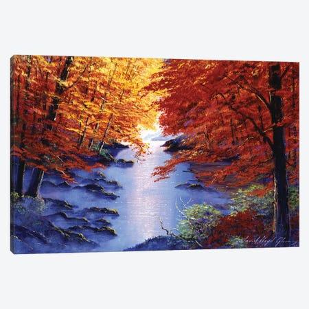 Misty Blue Morning Canvas Print #DLG102} by David Lloyd Glover Canvas Art