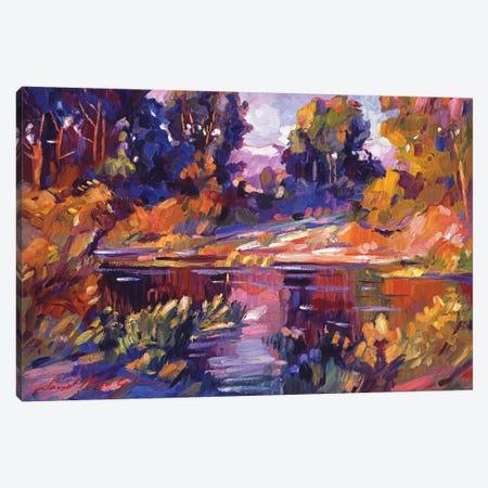 Lake Of Silence Canvas Print #DLG103} by David Lloyd Glover Canvas Wall Art