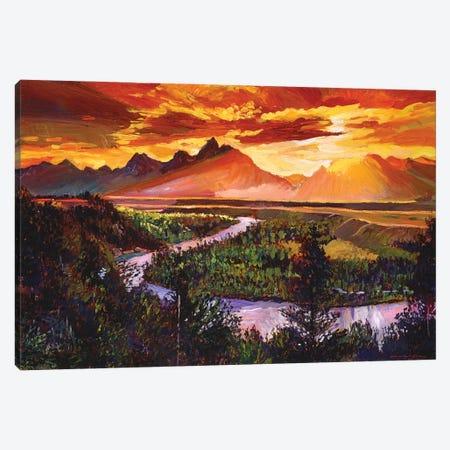 Majestic Morning Canvas Print #DLG107} by David Lloyd Glover Canvas Art Print
