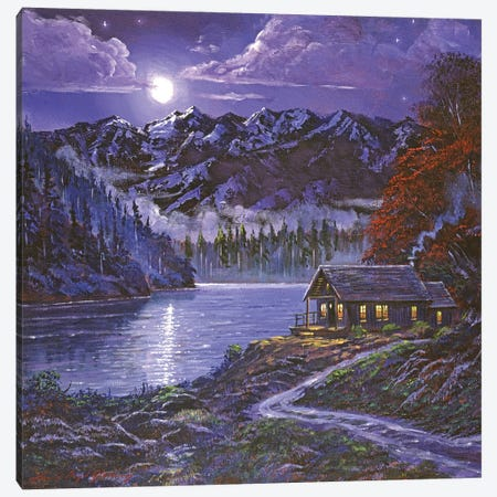Moonshadow Reflections Canvas Print #DLG112} by David Lloyd Glover Canvas Print