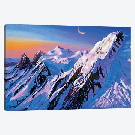 Mountain Moon Canvas Print #DLG114} by David Lloyd Glover Canvas Artwork