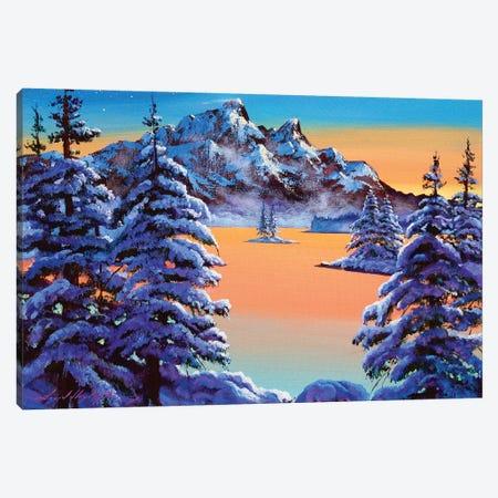 Mountain Sunset Ice Canvas Print #DLG115} by David Lloyd Glover Canvas Artwork