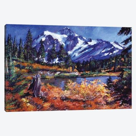 October Alpine Lake - Mount Shuksan Canvas Print #DLG124} by David Lloyd Glover Canvas Print