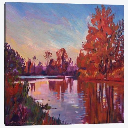 October Quiet Canvas Print #DLG125} by David Lloyd Glover Canvas Art Print