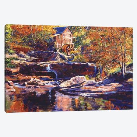 Old Stone Millhouse Canvas Print #DLG128} by David Lloyd Glover Canvas Artwork