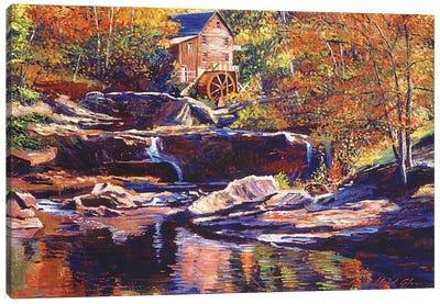 Old Stone Millhouse Canvas Art Print