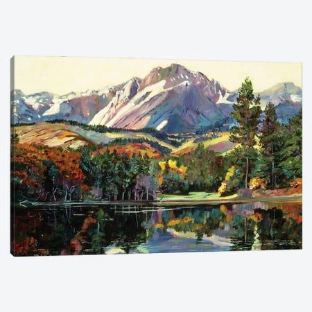 Painter's Lake Canvas Print #DLG135} by David Lloyd Glover Canvas Art