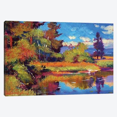 Pastoral Pond Canvas Print #DLG136} by David Lloyd Glover Canvas Artwork