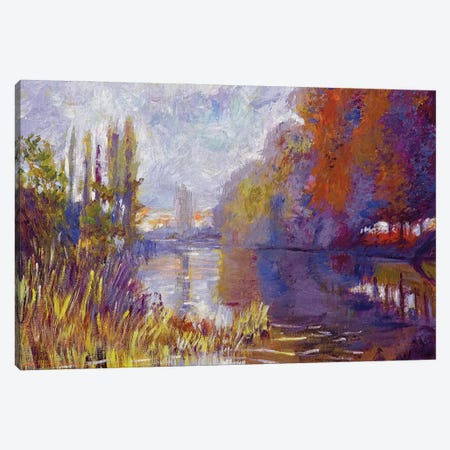 River Trees Canvas Print #DLG149} by David Lloyd Glover Canvas Artwork
