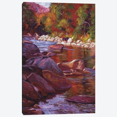Vermont River Canvas Print #DLG14} by David Lloyd Glover Canvas Wall Art