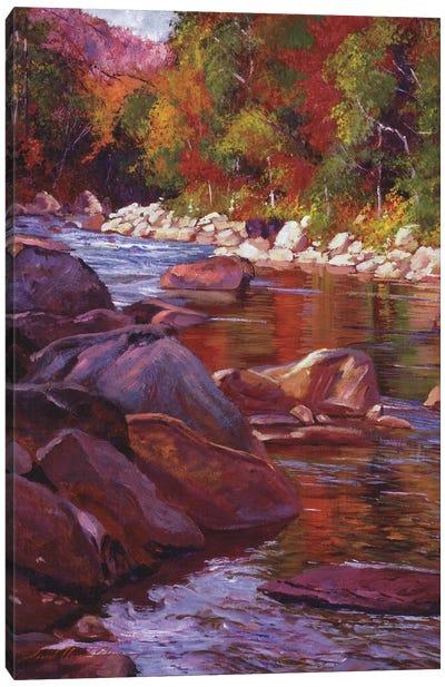 Vermont River Canvas Art Print