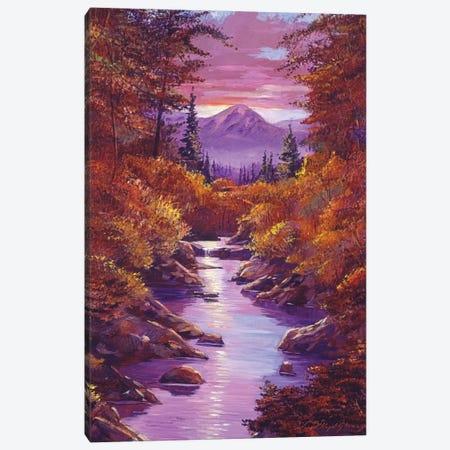 Quiet Autumn Stream Canvas Print #DLG19} by David Lloyd Glover Art Print