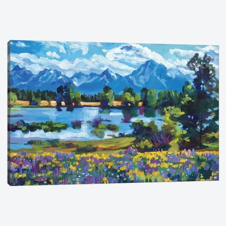 Wildflower Valley Canvas Print #DLG222} by David Lloyd Glover Canvas Art Print