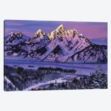 Winter Air Grand Tetons Canvas Print #DLG224} by David Lloyd Glover Canvas Artwork