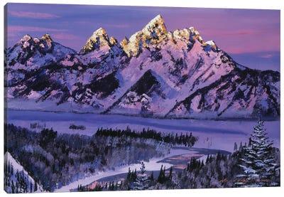 Winter Air Grand Tetons Canvas Art Print