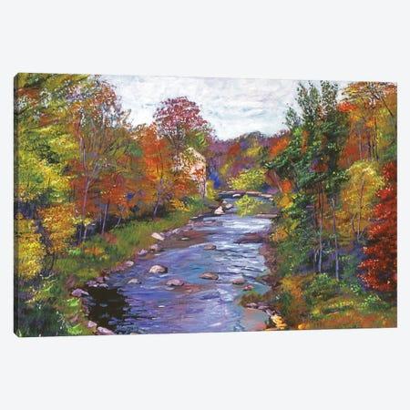 Autumn River Canvas Print #DLG23} by David Lloyd Glover Canvas Artwork