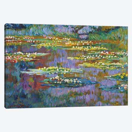 Waterlily Stillness Canvas Print #DLG30} by David Lloyd Glover Art Print