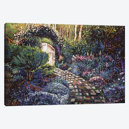 Brick Path To The Gate Canvas Print #DLG55} by David Lloyd Glover Canvas Art