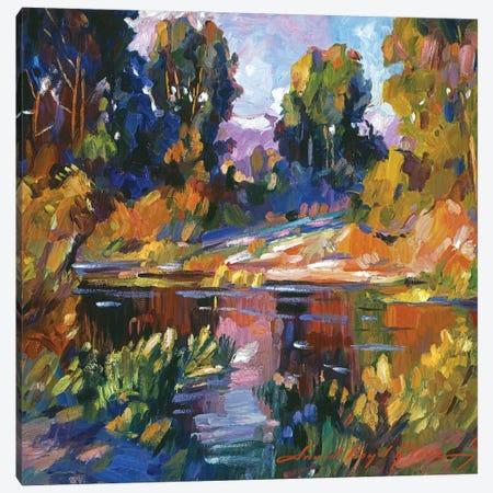 California Eucalyptus At The River Canvas Print #DLG58} by David Lloyd Glover Art Print