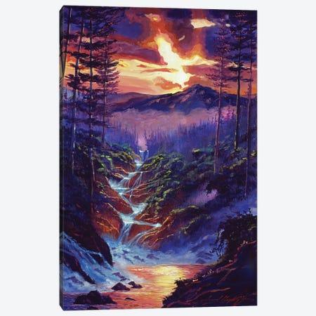 Cascading Waters Canvas Print #DLG62} by David Lloyd Glover Canvas Artwork