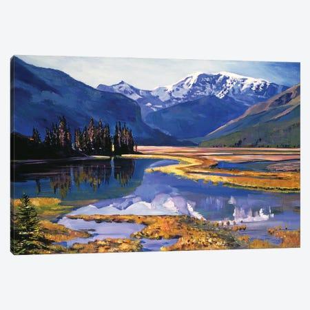 Cold River Valley Canvas Print #DLG65} by David Lloyd Glover Art Print