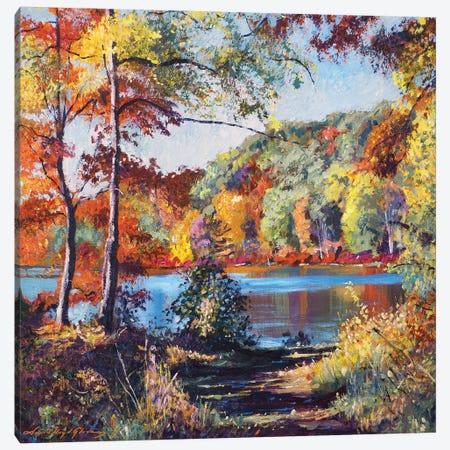 Colors On The Lake Canvas Print #DLG66} by David Lloyd Glover Art Print