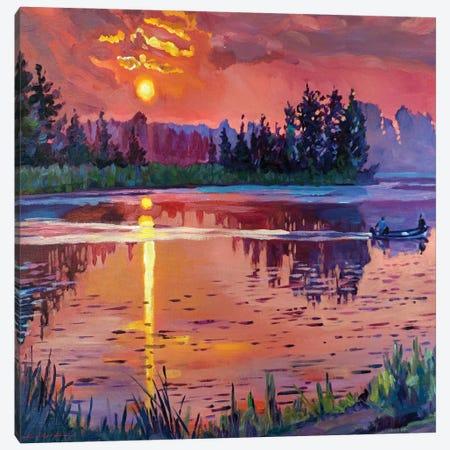 Trout Lake At Dawn Canvas Print #DLG69} by David Lloyd Glover Canvas Art