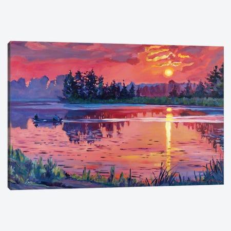 Daybreak Reflections Canvas Print #DLG70} by David Lloyd Glover Art Print