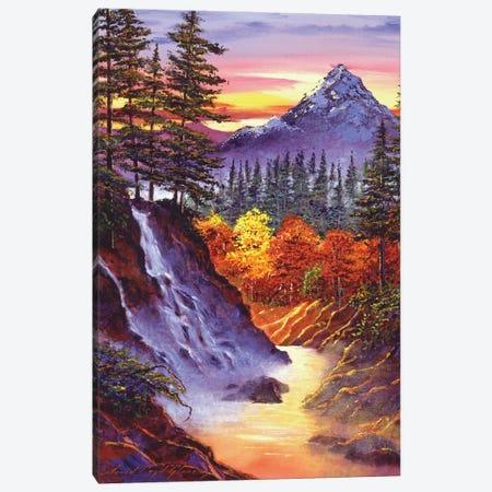 Deep Canyon Falls Canvas Print #DLG72} by David Lloyd Glover Canvas Print