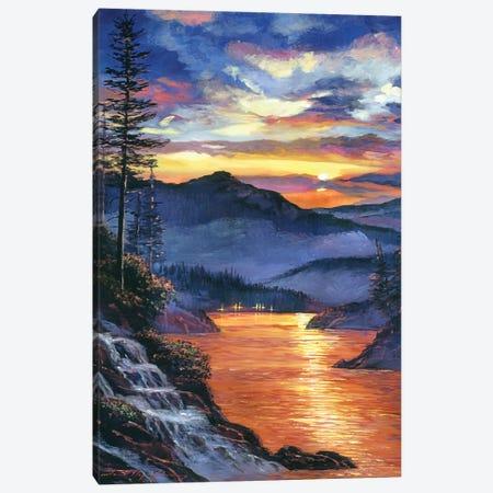 Evening Sky Reflections Canvas Print #DLG75} by David Lloyd Glover Canvas Art