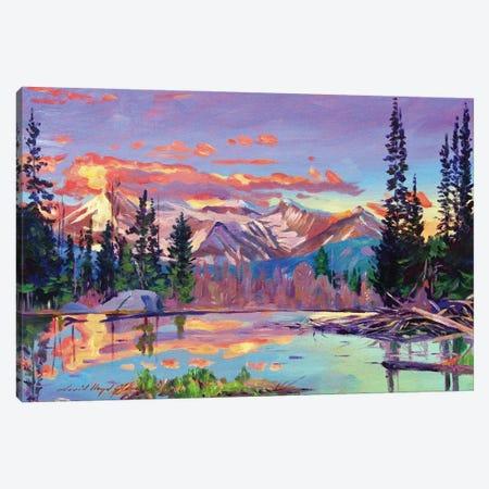 Evening Serenity Pond Canvas Print #DLG77} by David Lloyd Glover Canvas Artwork