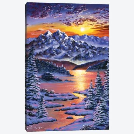Frozen Sunset Canvas Print #DLG89} by David Lloyd Glover Canvas Art