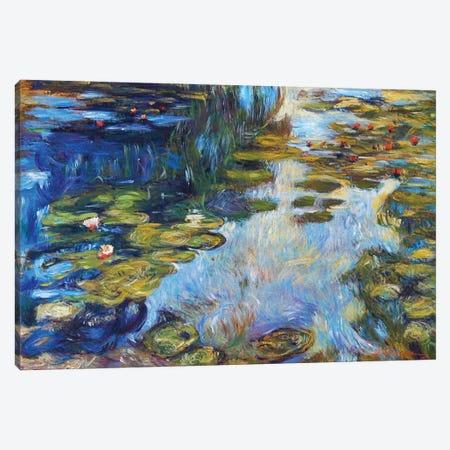 Waterlily Reflections Canvas Print #DLG8} by David Lloyd Glover Art Print
