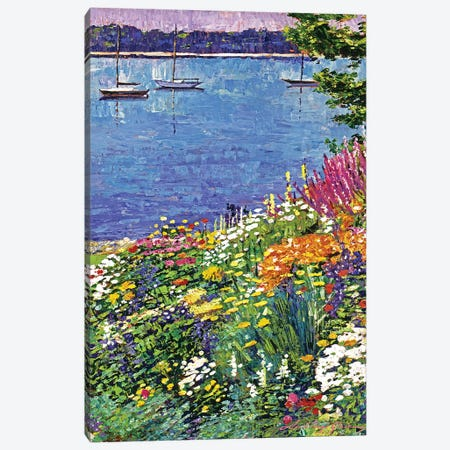 Garden By The Bayshore Canvas Print #DLG90} by David Lloyd Glover Canvas Art Print
