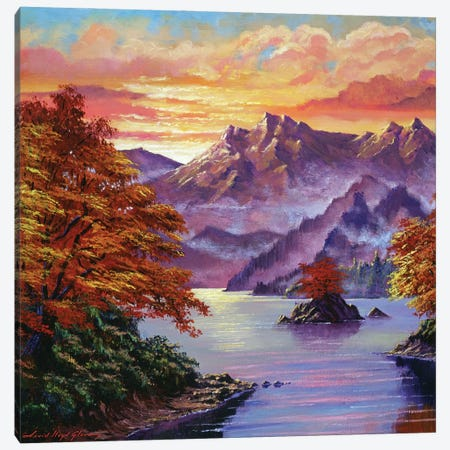 Golden Hour In The Shadow Canvas Print #DLG94} by David Lloyd Glover Canvas Artwork