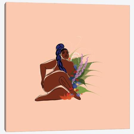 Peach Canvas Print #DLH38} by DeeLashee Artistry Canvas Artwork