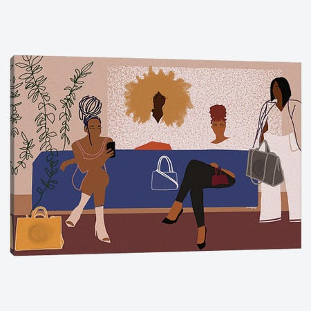 All The Girls Want Telfar Canvas Print #DLH39} by DeeLashee Artistry Canvas Wall Art