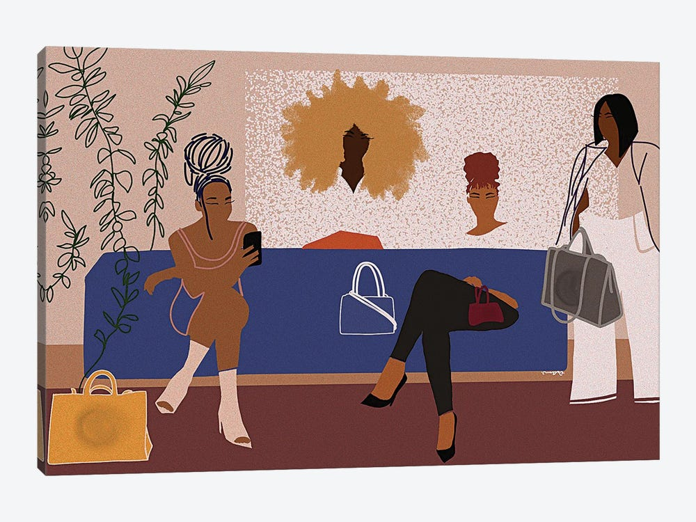 All The Girls Want Telfar by DeeLashee Artistry 1-piece Canvas Print