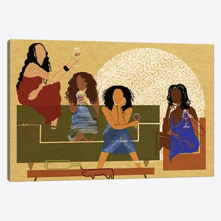 My Girlfriends Canvas Print #DLH44} by DeeLashee Artistry Canvas Artwork